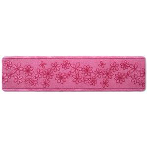 キッチンマット/フロアマット 【60×240cm ピンク】 洗える 裏面すべり止め加工 『ベルラ』