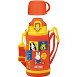 【THERMOS サーモス】 水筒 真空断熱2WAYボトル 【0.63L ミッフィー レッド】 直飲み&コップ付き 軽量 コンパクト