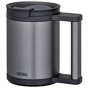 【THERMOS サーモス】 真空断熱 マグカップ 【ブラック】 0.28L ステンレス魔法びん構造 フタ付き 洗える - 拡大画像