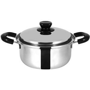 三層鋼両手鍋/調理器具 【20cm】 IH対応 三層構造 日本製 『極』
