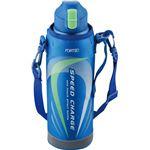 ワンタッチ栓ダイレクトボトル/水筒 【1.0L ブルー】 保冷専用 ロック機能付き 『フォルテック・スピード』