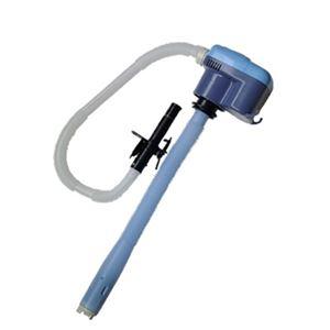電動 灯油ポンプ 【吐出量 毎分10L】 幅105cm 自動停止機能付き 乾電池式 スーパーポンプ直付き 『センタック』 〔暖房用品〕