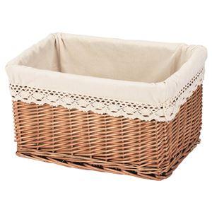 ちどり産業 収納ボックスカラーボックス用内布付き煮柳編みきなり(収納かごインナーケース)