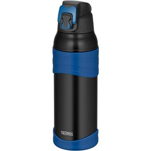 【サーモス】 真空断熱 スポーツボトル/水筒 【ブラックブルー 1L】 幅8.5cm 軽量 保冷専用 魔法瓶式 〔アウトドア〕