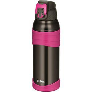 【サーモス】 真空断熱 スポーツボトル/水筒 【チャコールピンク 1L】 幅8.5cm 軽量 保冷専用 魔法瓶式 〔アウトドア〕