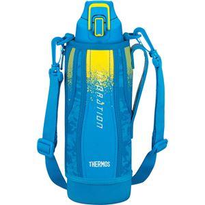 【サーモス】 真空断熱 スポーツボトル/水筒 【ブルーカモフラージュ 1L】 幅8cm 軽量 保冷専用 魔法瓶式 〔アウトドア〕