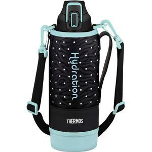 【サーモス】 真空断熱 スポーツボトル/水筒 【ドットブラック 1L】 幅8cm 軽量 保冷専用 魔法瓶式 〔アウトドア〕
