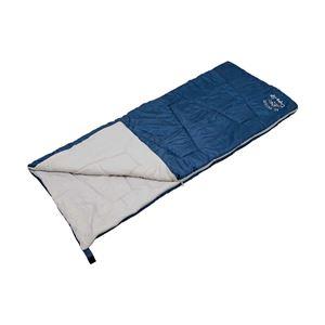 【キャプテンスタッグ】 クッションシュラフ/寝袋 【ネイビー】 幅80cm 洗える 連結可 自然開放防止 『モンテ』 〔アウトドア〕 - 拡大画像