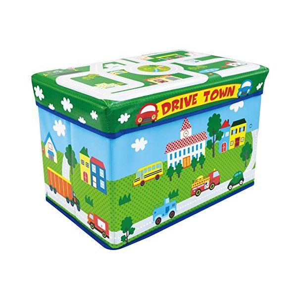 子供用 おもちゃ収納ボックス 【幅480mm】 耐荷重80kg クッション材入り 『遊べるストレージボックス ドライブタウン』