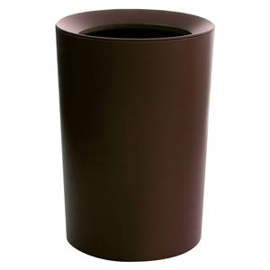 モダン ゴミ箱 【ブラウン 6.7L】 丸型 直径22.2cm 日本製 『アスベル ruclaire ルクレール ダストボックスCV トラッシュカン』