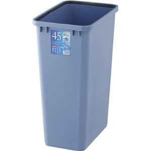 リス ゴミ箱ベルク角ペール45L本体ブルー(ごみ箱屋外ポリバケツ) - 拡大画像