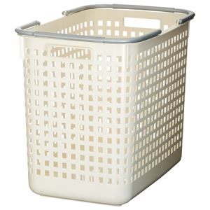 吉川国工業所 スカンジナビアスタイル バスケット L W(ホワイト) SCB-5 - 拡大画像