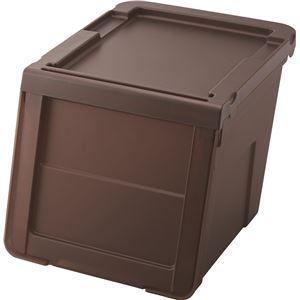 天馬 カバコ 収納ボックス ( スリムMサイズ ) クリアブラウン プロフィックス ( プラスチック フタ付き 衣装ケース おもちゃ収納 ) - 拡大画像