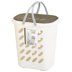 不動技研 ルーフバスケット アイボリー F2370 (洗濯かご ランドリーケース バスケット 収納かご) - 拡大画像