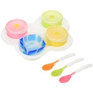 離乳食スタートセット/ベビー用品 【電子レンジ可・食器洗い乾燥機可】 カップ・スプーン・プレート TLIシリーズ ND  - 拡大画像