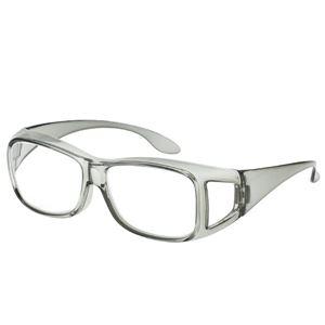 アイメディア 高倍率 メガネタイプ拡大鏡 グレー 1.8倍 1006000