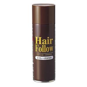 薄毛スプレー/ヘアケア 【ブラウン】 スプレー式 150g マコンブエキス・センブリエキス配合 『HairFollow ヘアフォロー』 - 拡大画像