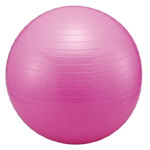 おうちでフィットネスボール/バランスボール 【直径55cm】 エアポンプ付き 〔ストレッチ フィットネス 運動〕 - 拡大画像