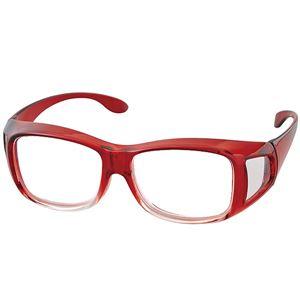 アイメディア 高倍率 メガネタイプ拡大鏡 ワインレッド 1008339