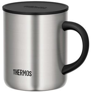 【THERMOS サーモス】 真空断熱マグカップ/コップ 【ステンレス S 350ml】 フタ付き 保温・保冷 - 拡大画像