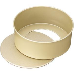 貝印 × COOKPAD 熱伝導効果で、焼き上がりに差がつく アルミフッ素加工のホールケーキ型 底取れ式 15cm DL8055