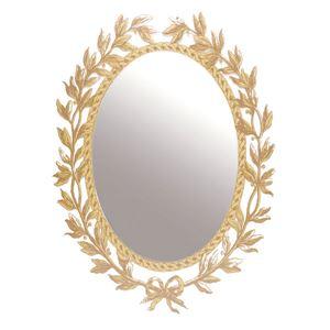 ステッカータイプ ウォールミラー/ミラーステッカー 【ゴールド】 アクリル素材 楕円 『ニトムズ decilfa』 - 拡大画像