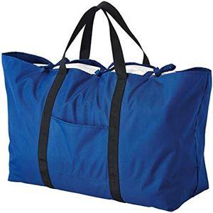 布団も入る大きなトートバッグ 【ネイビー】 大容量 容量約105L はっ水加工 折りたたみ可 〔引っ越し コインランドリー 入院〕 - 拡大画像