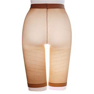 太ももにすき間 極薄ねじりガードル/下着 【ベージュ L-LL ヒップサイズ92〜105cm】 アウターにひびきにくい 日本製