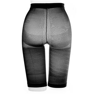 太ももにすき間 極薄ねじりガードル/下着 【ブラック M-L ヒップサイズ87〜100cm】 アウターにひびきにくい 日本製 - 拡大画像