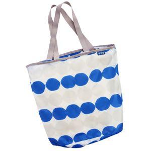 (まとめ) ランドリートートバッグ/洗濯用品 【ブルー M】 洗濯ネット 洗濯かご ランドリーバッグ 【×48個セット】 - 拡大画像