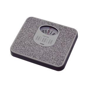 (まとめ) 体重計/ヘルスメーター 【アナログ】 コンパクト 電池交換不要 点調節つまみ付き ストーンホワイト 【×6個セット】 - 拡大画像