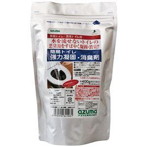 (まとめ)簡易トイレ 強力 凝固剤 消臭剤 400 CH888 【×24個セット】