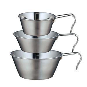 (まとめ)カクセーSOLAシェラカップ 3個セット PP-09アウトドア調理用品 【×36個セット】 - 拡大画像