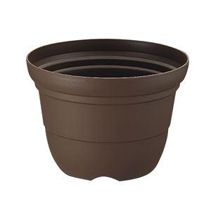 (まとめ) プラスチック製 植木鉢/ポット 【輪鉢 8号 コーヒーブラウン】 ガーデニング 園芸 『カラーバリエ』 【×40個セット】 - 拡大画像