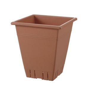 (まとめ) 角型プランター/植木鉢 【31型 ブラウン】 容量:17L ガーデニング用品 園芸 『ネバール』 【×20個セット】 - 拡大画像