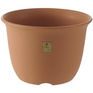 (まとめ) 植木鉢/ポット 【6号 ブラウン】 プラスチック製 ガーデニング用品 園芸 『ムール』 【×60個セット】 - 拡大画像