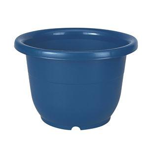 (まとめ) ベーシック 植木鉢/ポット 【輪鉢 10号 ブルー】 穴付き シンプル ガーデニング用品 園芸 【×40個セット】 - 拡大画像