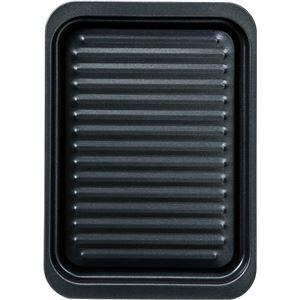 (まとめ) グリルトレー/グリルパン 【ワイド深型】 フッ素樹脂加工 調理器具 【×24個セット】 - 拡大画像
