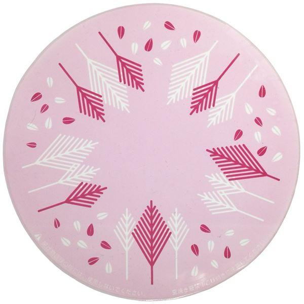 (まとめ) IHクッキングヒーター マット/シリコンカバー 【ピンク】 オールメタル対応 洗える キッチン用品 【×48個セット】