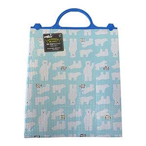 (まとめ)オカザキ アルミ 保冷 保温バッグ ブルー (アルミ 保冷バッグ) 【×200個セット】 - 拡大画像