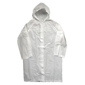 (まとめ) レインコート/雨具 【男女兼用サイズ】 大人用 携帯用 半透明 軽量 【×100個セット】 - 拡大画像