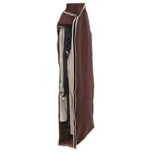 (まとめ) 洋服カバー/衣類収納カバー 【ロング】 着丈約120cm迄 コート・ワンピース用 炭入り消臭 透明窓付き 【×26個セット】 - 拡大画像