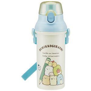 スケーター すみっコおべんきょう 食洗機対応直飲みプラワンタッチボトル 480ml PSB5SAN (水筒) - 拡大画像