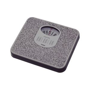 体重計/ヘルスメーター 【アナログ】 コンパクト 電池交換不要 点調節つまみ付き ストーンホワイト - 拡大画像