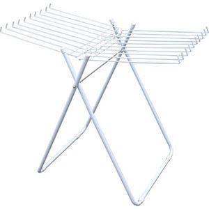 タオルハンガー/洗濯ハンガー 【20本掛け】 折りたたみ ホワイト 室内物干し 洗濯用品