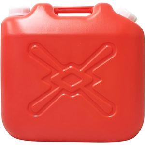 灯油缶 赤 20L ポリタンク - 拡大画像