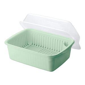 (まとめ) 水切りかご/水切りセット 【大】 フード付き 抗菌仕様 グリーン キッチン用品 『Nポゼ』 【10個セット】 - 拡大画像