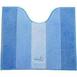 トイレマット アクアフィール ソフティ 足元マット 55×65cm ブルー - 拡大画像