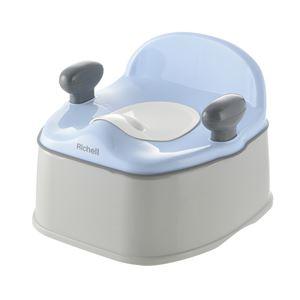 イス型おまる/ベビー用品 K 【ブルー】 耐荷重:20kg トイレトレーニング 『ポッティス』 - 拡大画像