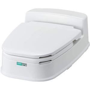 コンドル リフォームトイレ P型両用式 アイボリー - 拡大画像